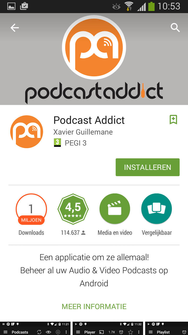 Stap 2: download podcastaddict