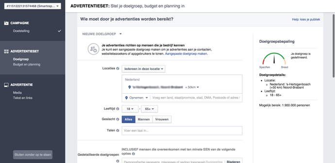STAP5 - Facebook video advertentie
