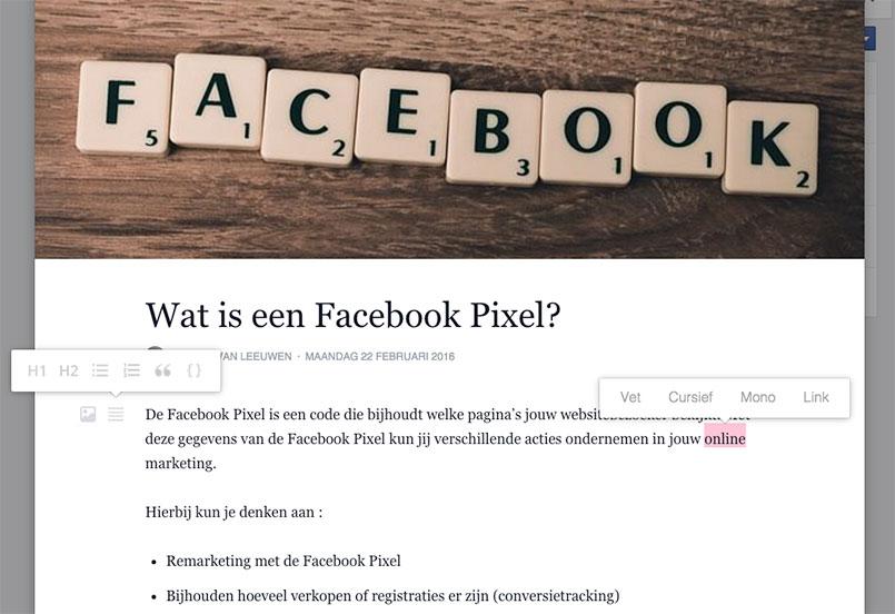 Facebook Notes, blogberichten plaatsen op jouw pagina
