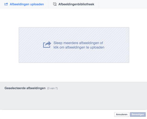Facebook diavoorstelling advertentie