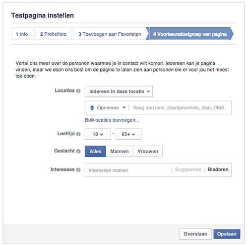 Facebook pagina maken